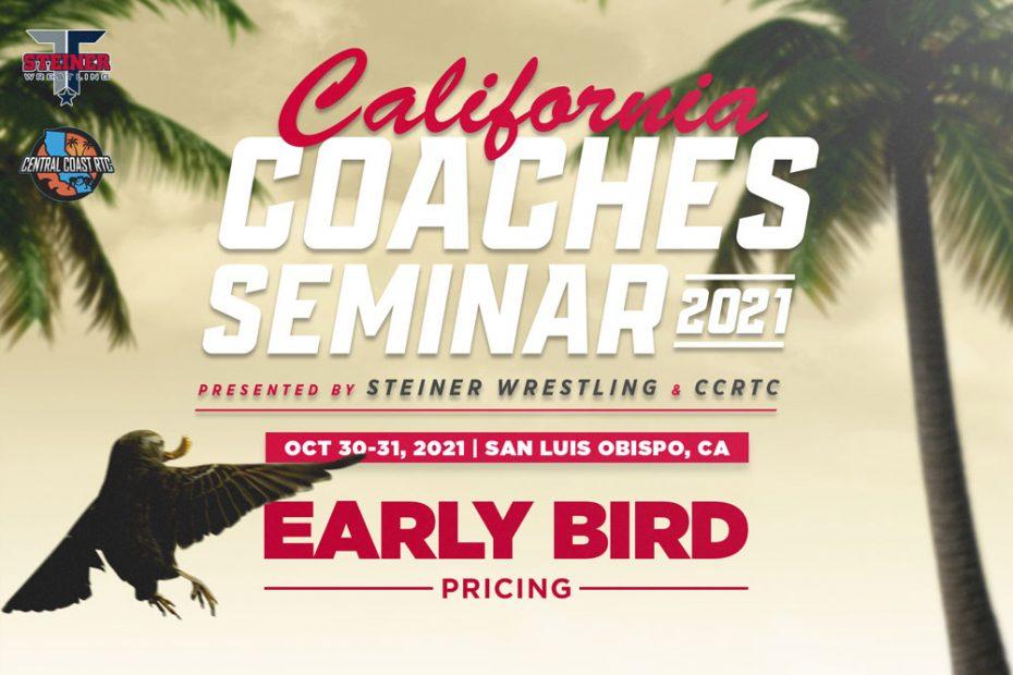 early bird graphic for California Coaches Seminar - 2nd Annual